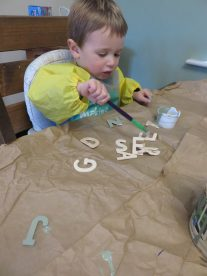 painting the letters