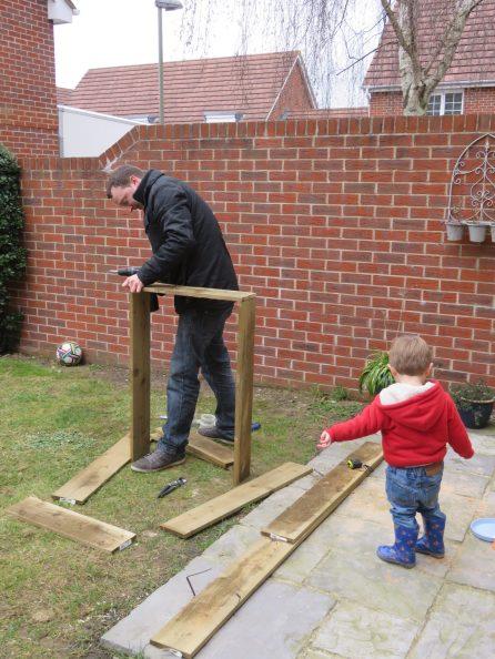 building the garden