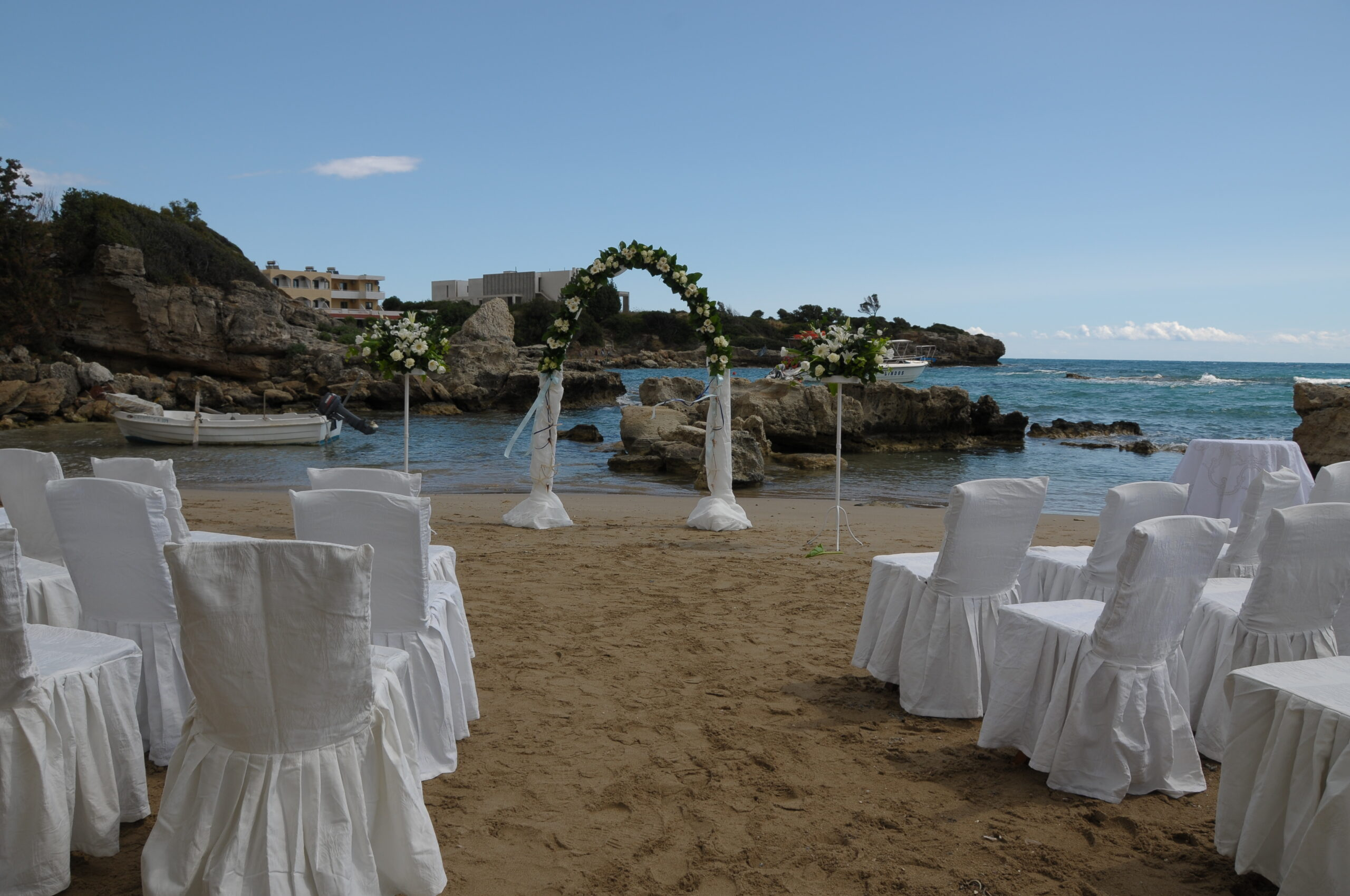beach wedding day