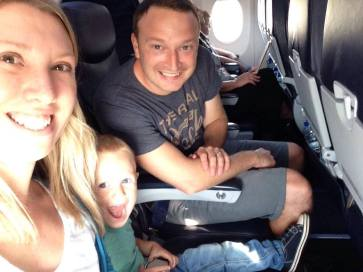 family on a plane