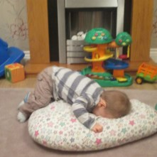 boy having strops- terrible two's
