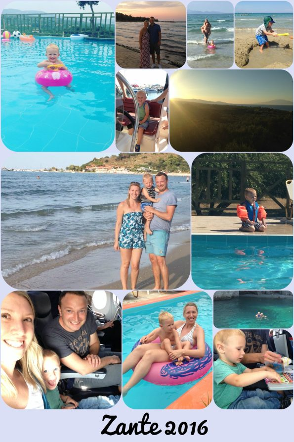 collage of our holiday in Zante