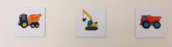 diggers and trucks on canvas pictures
