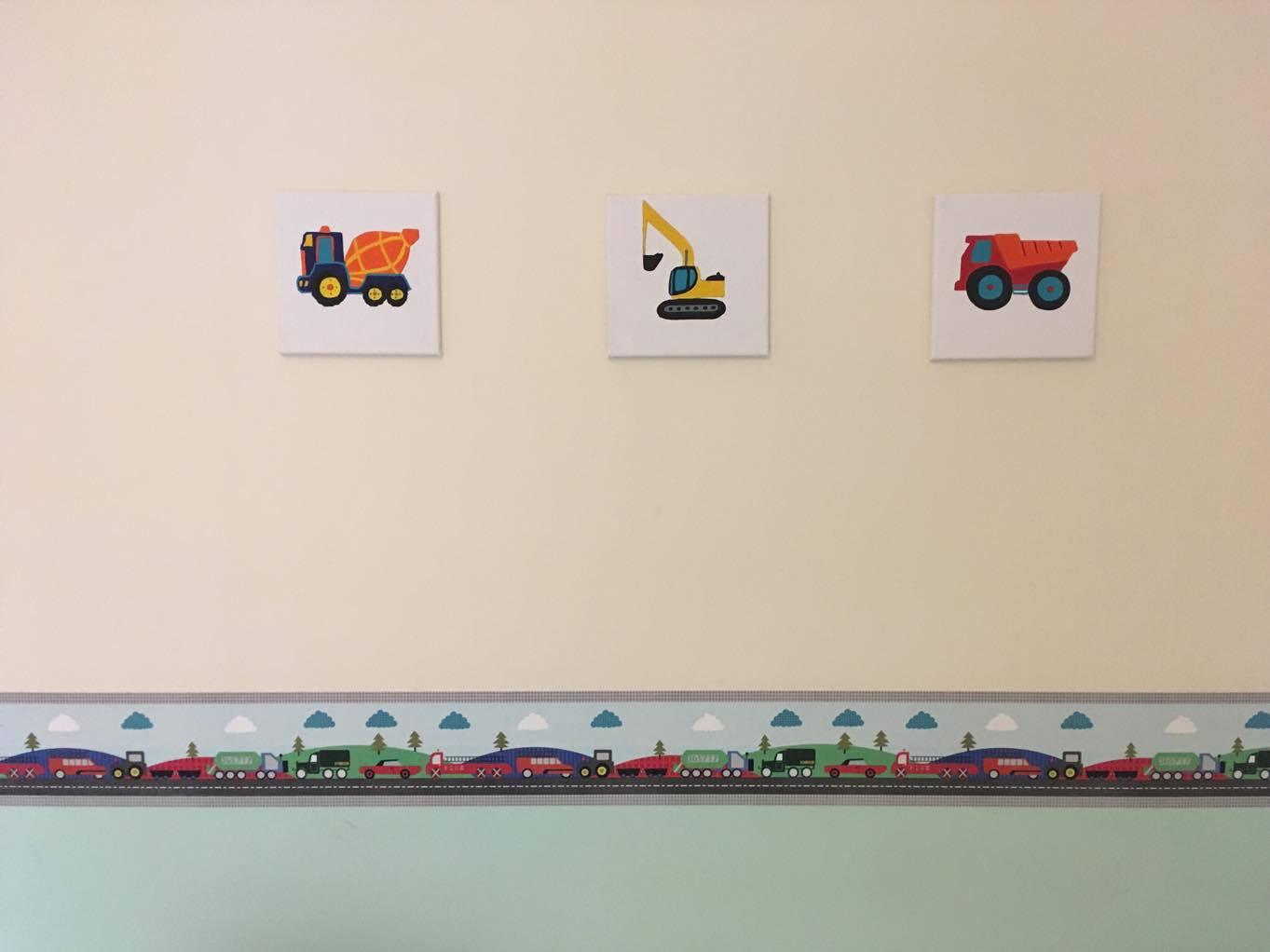 trucks on canvasses