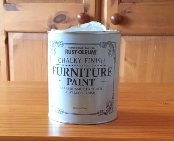 rust-oleum chalk paint pot