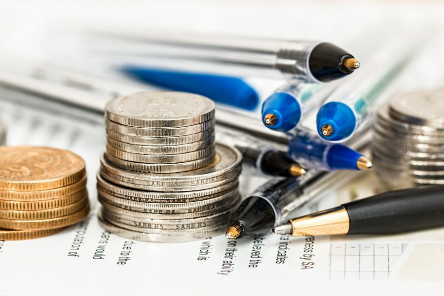 finance, money, pens