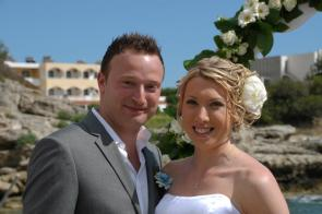 me and Rob on our wedding day
