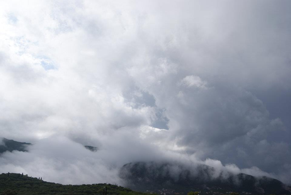 storm clouds in Zante