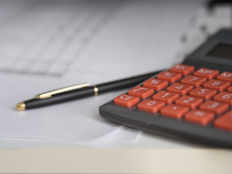 calculator working out family finances