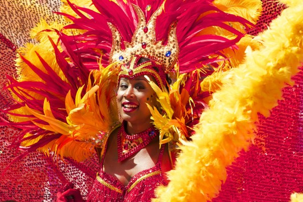 lady in carnival dress