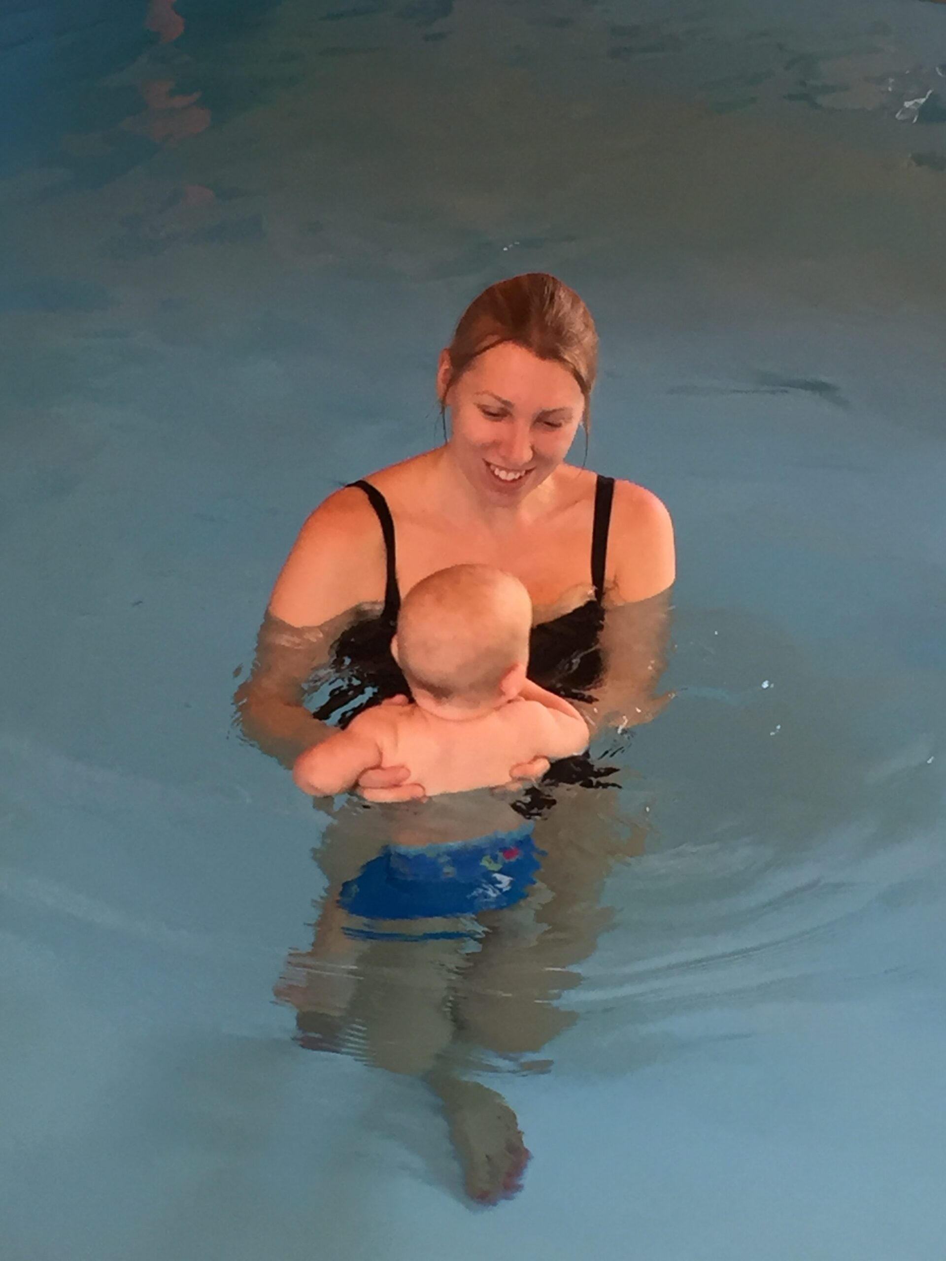me and william in the pool