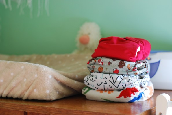 pile of cloth nappies
