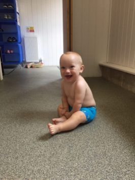 William sat in the changing room smiling