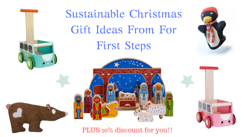 sustainable Christmas gift ideas from for first steps