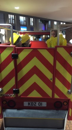 back of the fire engine