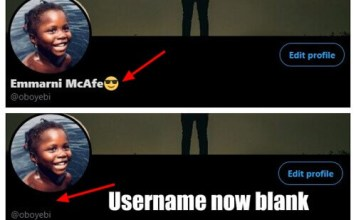 how to have invisible name on twitter