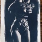 """Shibari : Cyanotype – Courbes & cordes"" 24×32"