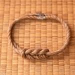 Collier de jute et fil argenté
