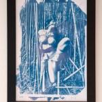 Tirage cyanotype encadré – Shibari à la bambouseraie