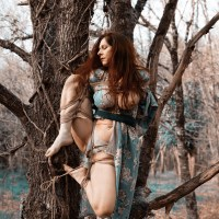 shibari dans les bois