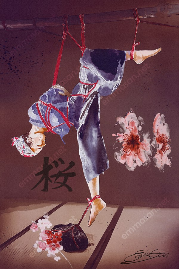 sakura shibari painting