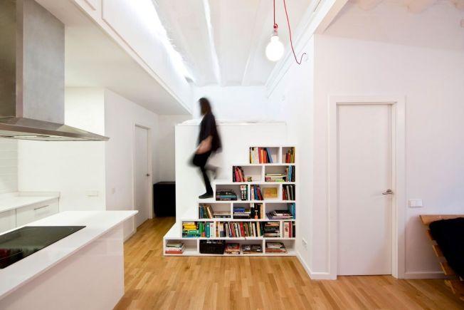 escalera librería para libros