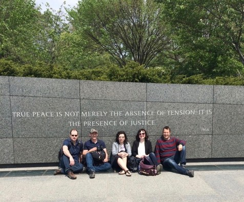 At the Martin Luther King Jr memorial