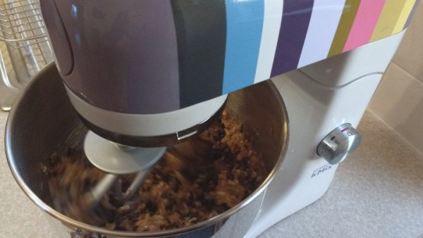 Gluten Free Christmas Pudding in mixer