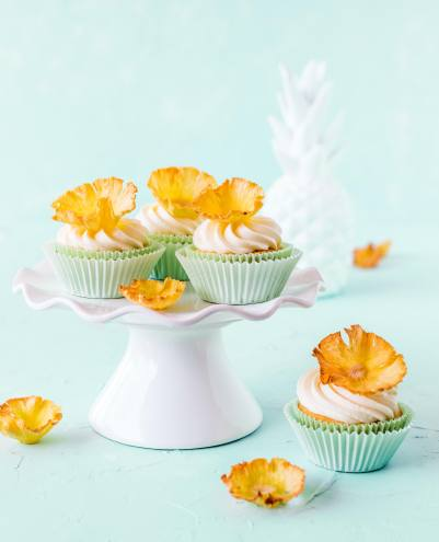Tropical Party- Ananas-Cupcakes