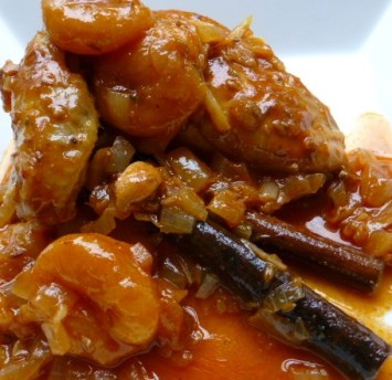 Parsi Chicken with Apricots.
