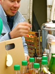 Spiced Cider stall: Naplavka Farmer's Market.