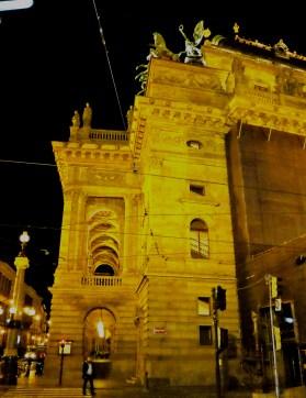 Theatrical arches, Prague.