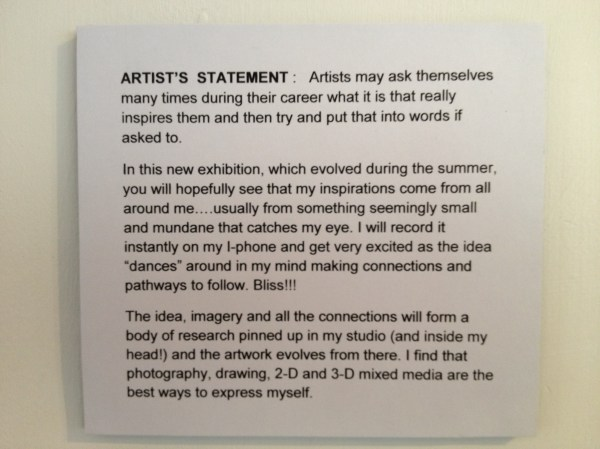 Art Gallery Artist Statements