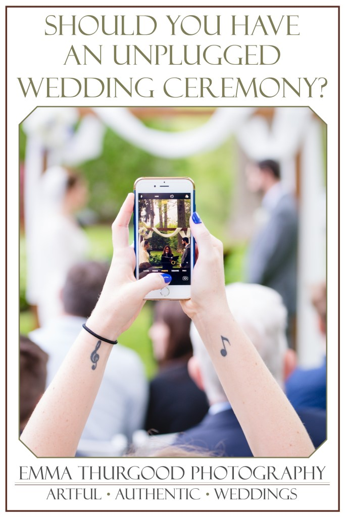 graphic for how to have an unplugged wedding ceremony