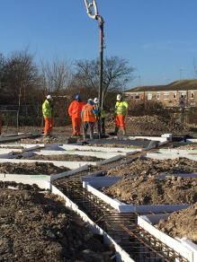 Week 18 Concrete poured into the residential building (Copy)