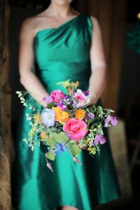 green_dress_bouquet
