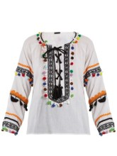 http://www.matchesfashion.com/products/Dodo-Bar-Or-Yehoray-pompom-embellished-cotton-top-1081095