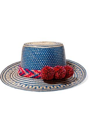 https://www.net-a-porter.com/gb/en/product/838722/yosuzi/pompom-embellished-woven-straw-sunhat