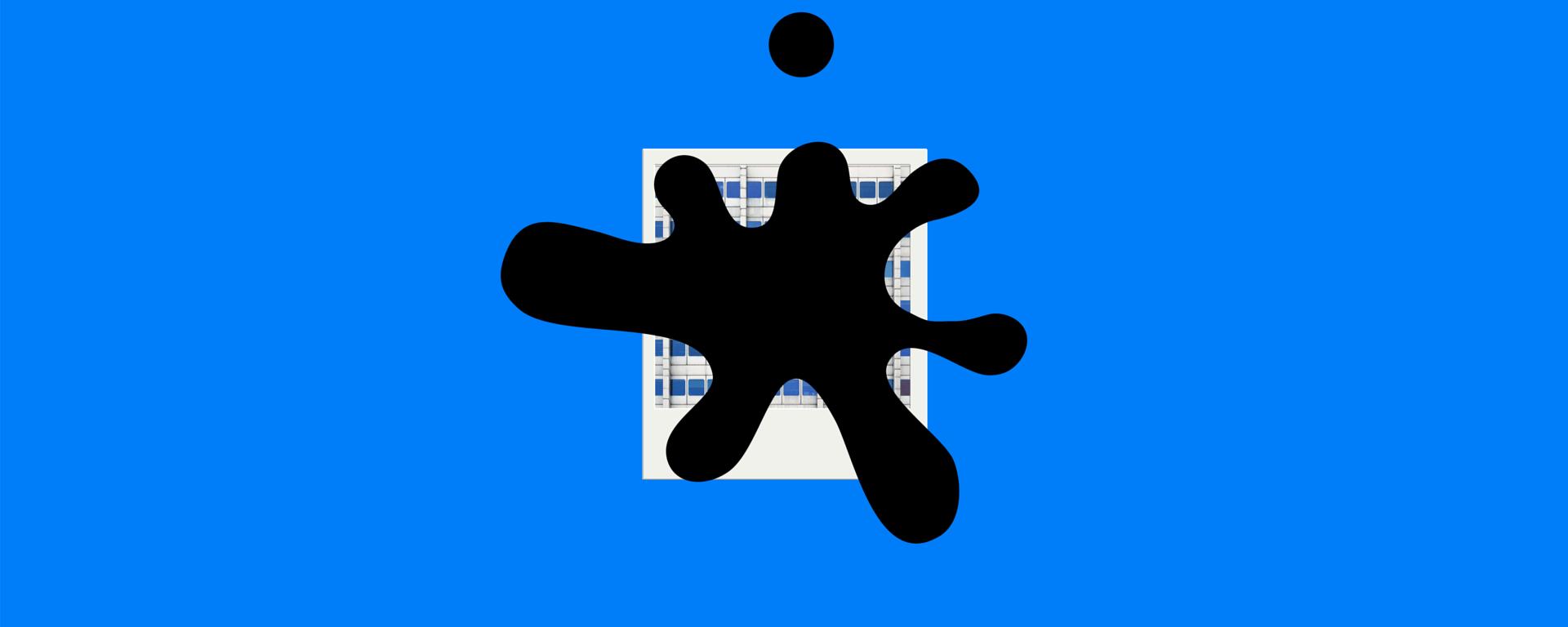 Polaroid su sfondo blu