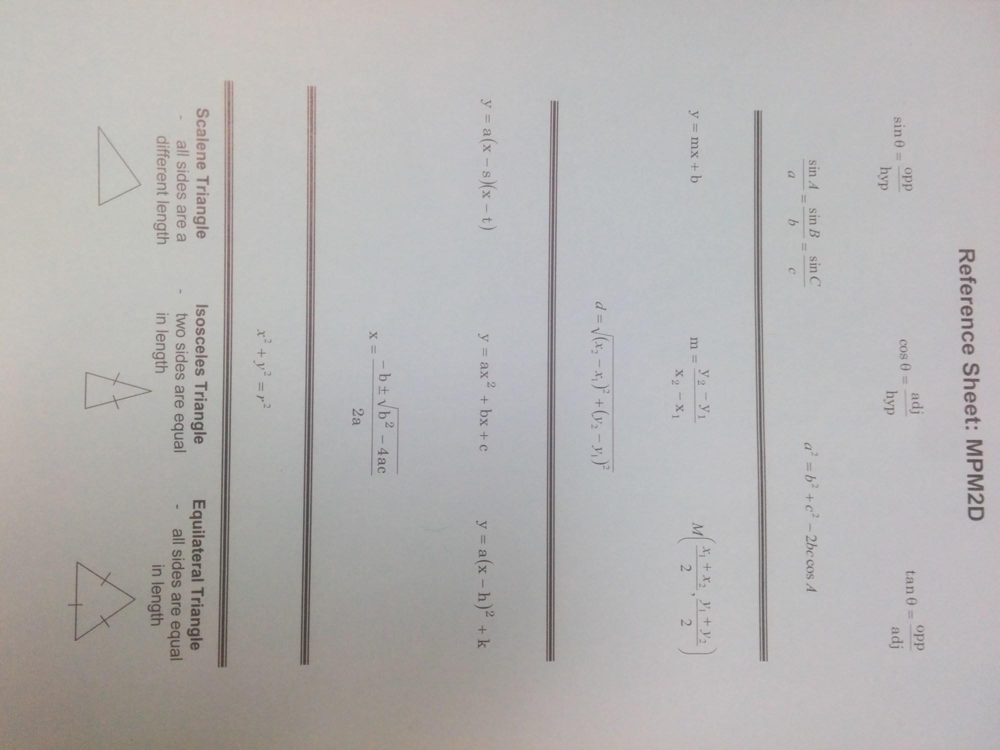 hight resolution of MPM2D - Principles of Mathematics   Mr. Emmell @ WCSS