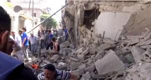 Alep-Bostan-Al-Qasr-28-av-2016--Attaque-de-l'aviation-du-régime-9