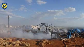 Camp de réfugiés syrien de Kamounah Près d'Idleb bombardement par le régime le 6 mai 2016-2