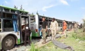 Bus-carbonisés-à-Alep-évacuant-Foua-et-Kafraya-7