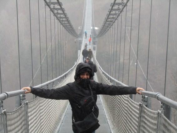 Il ponte sospeso Titan nel parco nazionale dello Harz