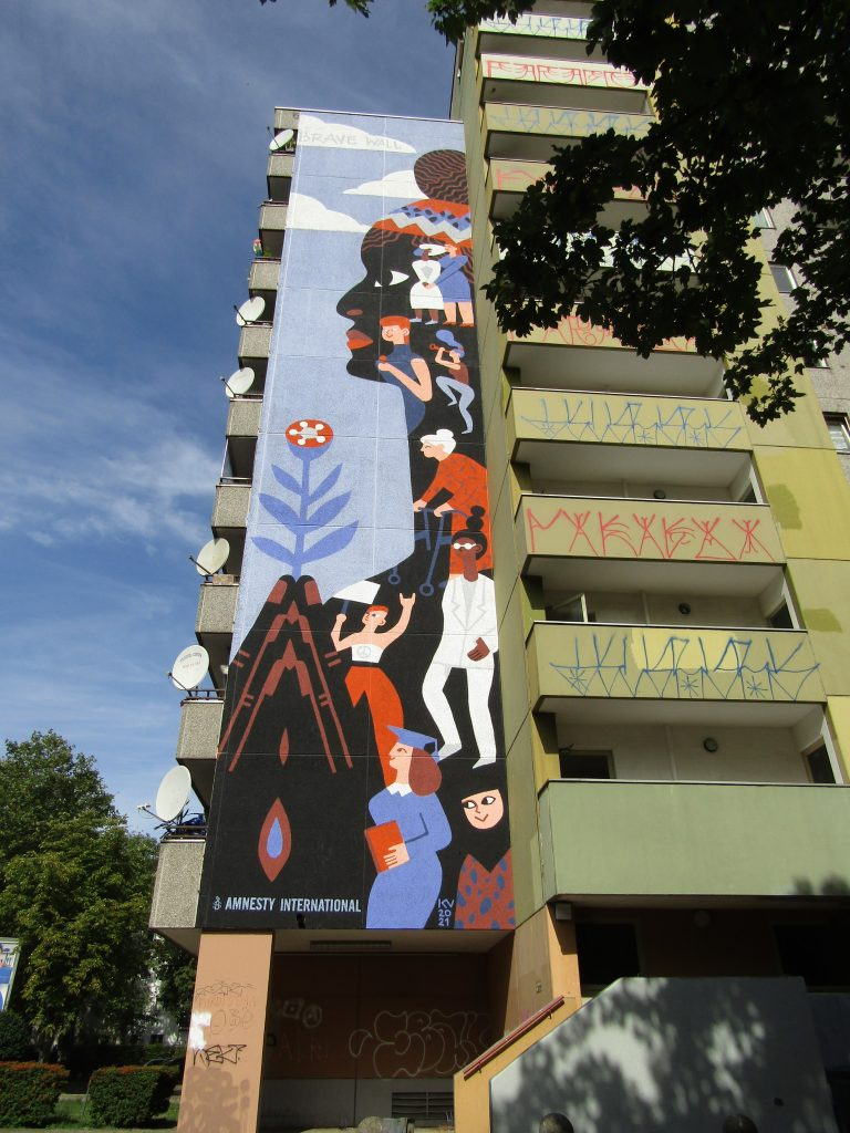 I più bei murales di Kreuzberg: Brave Wall, dedicato a Marielle Franco.