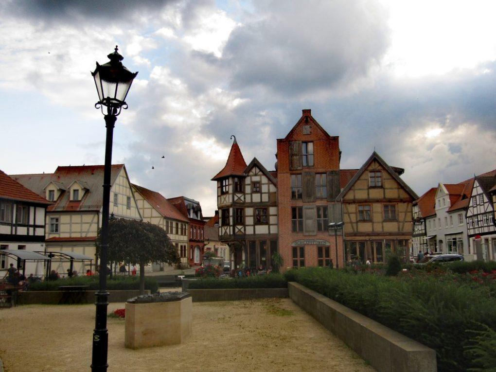 Visitare il Sachsen Anhalt: la piazza del mercato a Tangermünde