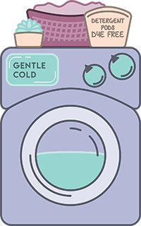 Wash your bras in cold water on gentle
