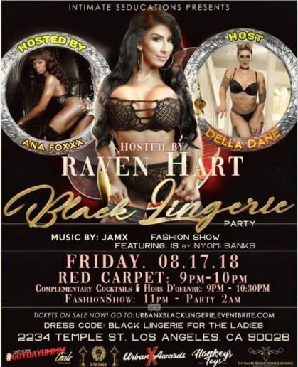 Raven Hart Urban X Black Lingerie