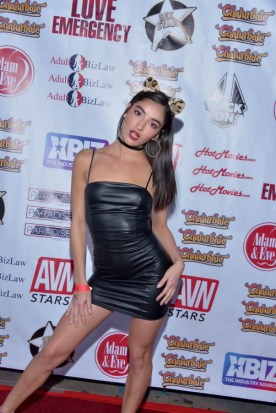 HOLLYWOOD, CA -OCTOBER 30: Performer Emily Willis arrives for the Heaven and Hell Halloween Bash on October 30 2019 in Hollywood California. (Photo by Glenn Francis/www.PacificProDigital.com)