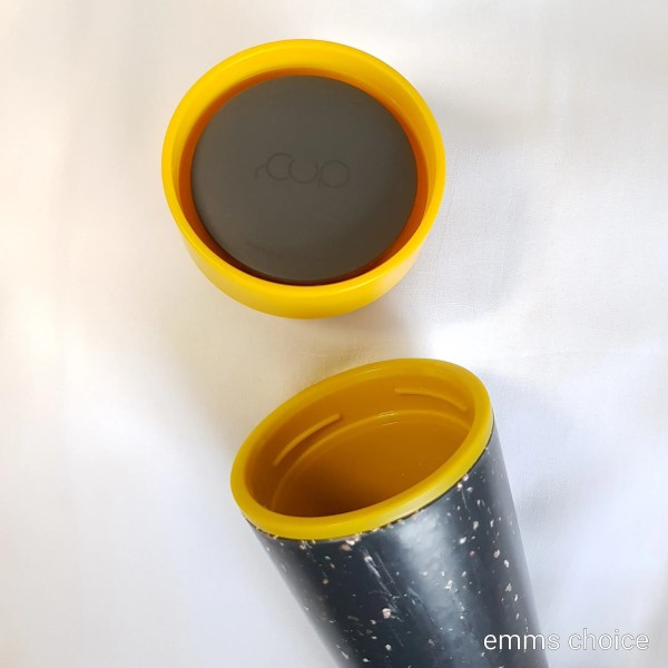 reusable cup with lid off